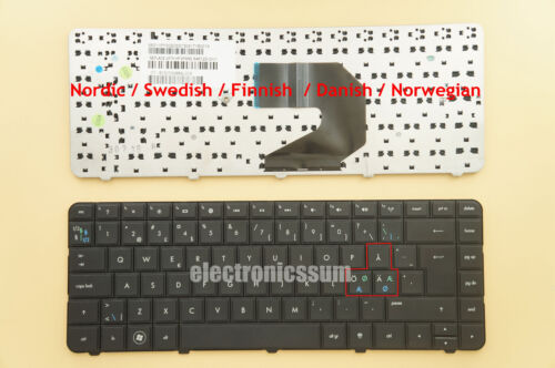 Nordic Norsk Keyboard for HP g6-1330eo  g6-1340so g6-1351so g6-1366eo CQ57-201SO