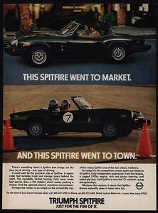 1979 Triumph Spitfire Convertible Sports Car Race Car Vintage Ad