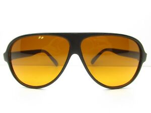 1376f1bdc3842 Image is loading BLUBLOCKER-AVIATOR-SUNGLASSES-amber-lens-black-sport- plastic-