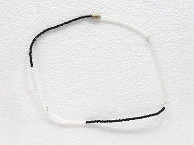 Cordiale Falso/fake Bigiotteria - Girocollo Bianco/nero Di Perline Ricambio Senza Costi A Qualsiasi Costo