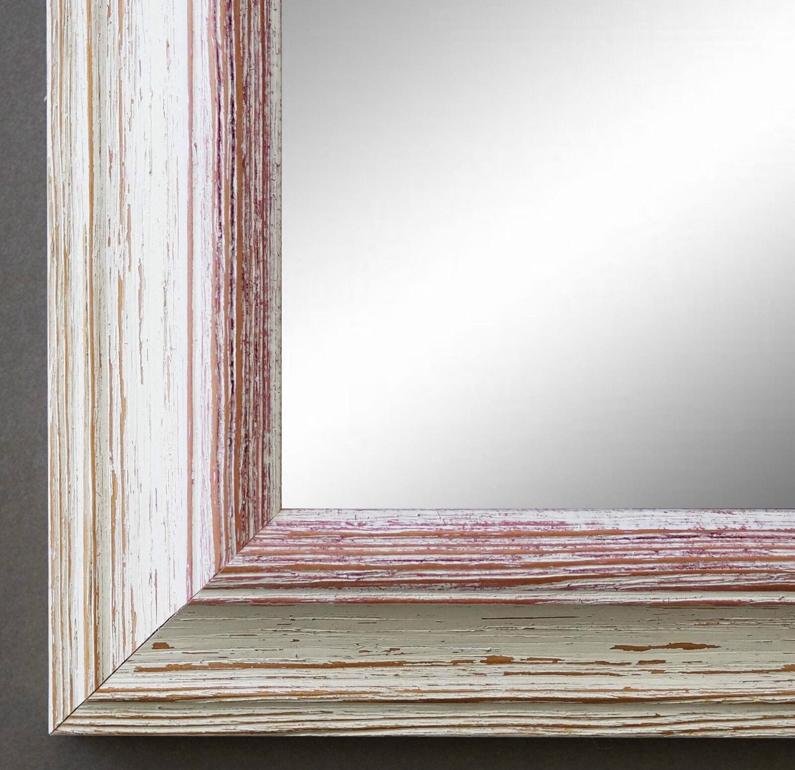 Wandspiegel Hochformat Querformat Bari Antik Beige Rot 4,2 - NEU alle Größen