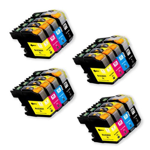 chip for LC203XL LC201 MFC J460DW J480DW J485DW 16 PK Compatible Ink Set