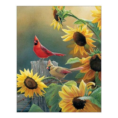 Birds 5D Round Diamond Embroidery Painting Cross Stitch Craft Needlework Decor