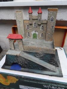 Ancien Jouet Vintage Toys Wood Castle Fortress Chateau Fort Moyen Age Medieval
