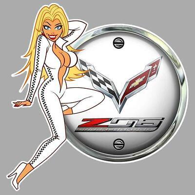CHEVROLET Motorsports left Pin Up Sticker gauche