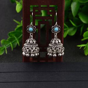 Women-Bohemian-Boho-Style-Small-Bell-Shape-Ear-Drop-Ethnic-Retro-Charm-Earrings