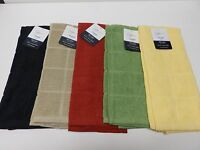 2 Pc. Kitchen Dish Towels 100% Cotton 15x25 Various Colors Free Shipping