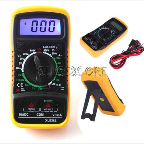 Digital LCD Voltmeter Ammeter OHM AC DC VOLT Tester XL830L Multimeter Checker