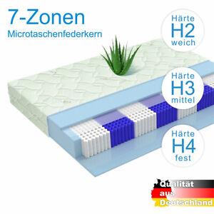 Tonnentaschenfederkern Matratze Munchen 1000 Federn 7 Zonen H3 90x200cm Ebay
