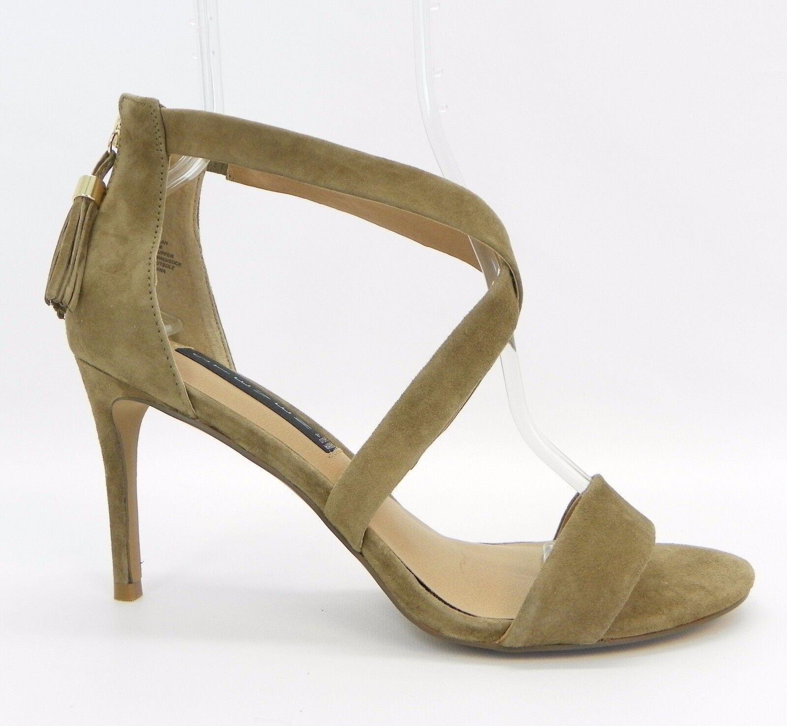 STEVEN Steve Madden chaussures Nahlah Open Toe Strappy Dress Sandal Taupe Suede 9.5 M
