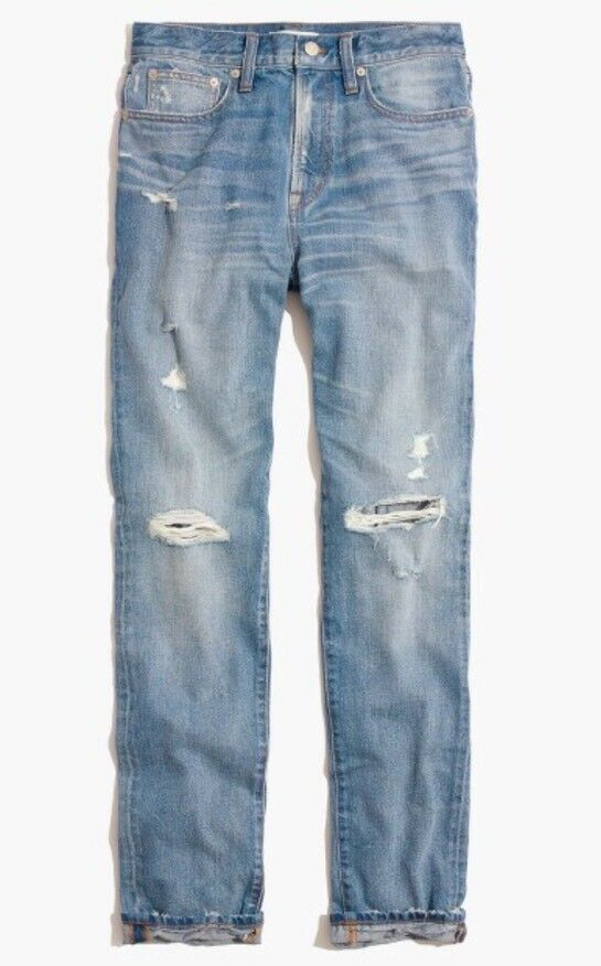 New Madewell  Perfect Vintage Jean in Chet Wash  Distressed Edition Sz 29 F9074