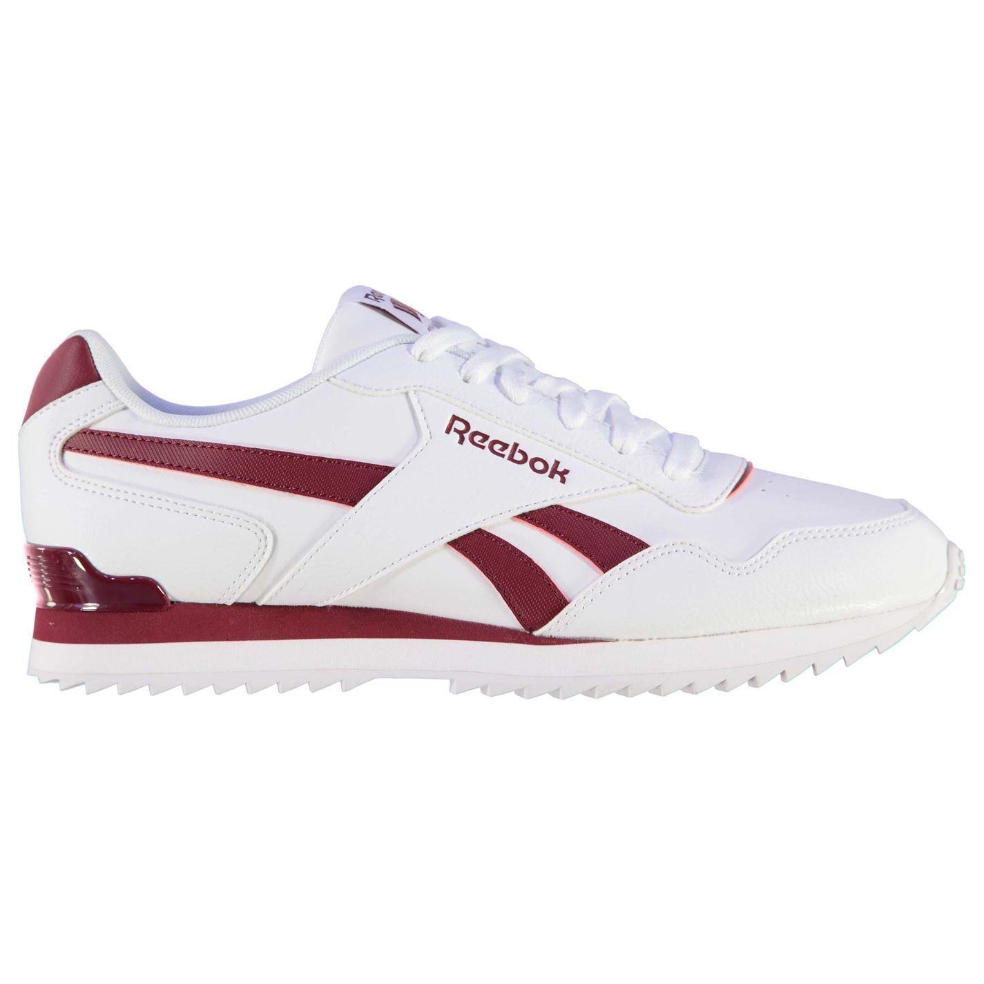Reebok Glide Rip Clip Trainers Uomo Wht/Burgundy Sports Scarpe Scarpe da Ginnastica Footwear