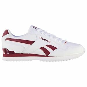 Reebok-Glide-Rip-Clip-Trainers-Mens-Wht-Burgundy-Sports-Shoes-Sneakers-Footwear