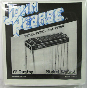 à Condition De John Pearse 7200 Pédale En Acier Nickel Wound C6 Tuning Cordes Guitare. 012 - .070-afficher Le Titre D'origine