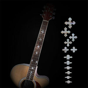 guitar fretboard inlay stickers acoustic electric fret neck decals markers new ebay. Black Bedroom Furniture Sets. Home Design Ideas