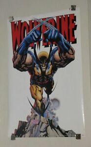 1993-Original-34-x-22-Marvel-Comics-vintage-X-Men-Wolverine-poster-1990-039-s-Logan