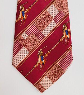 Michelangelo Polo pony silk tie horse riding equestrian sport animal theme