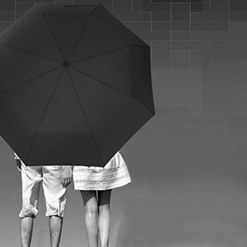 Automatic Black Umbrella Anti-UV Sun//Rain Windproof 3 Folding Compact Umbrella
