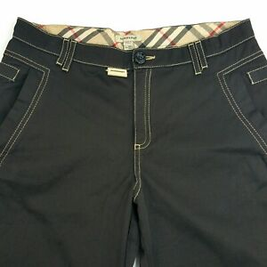 Burberry-London-England-Female-Youth-Size-14Y-Black-Pants-Womens-Straight-Leg