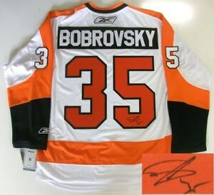 best website 64aaf abce3 Details about SERGEI BOBROVSKY PHILADELPHIA FLYERS SIGNED RBK JERSEY