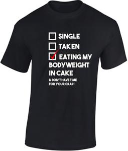 Nourriture-My-poids-corporel-en-gateau-T-shirt-CADEAU-AMUSANT