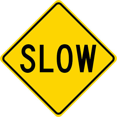 1050 x 750mm Road Traffic Safety Sign BRAND NEW Reduce Speed Now