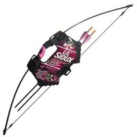 Barnett Lil Sioux Jr. Pink Recurve Beginner's Bow & Arrow Archery Set