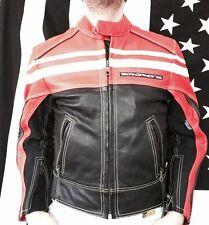 Motophoria, Keprotec, Schoeller, Mens Leather Jacket Sz 36 Motorcycle Motocross
