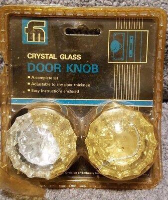 12 Point Crystal Glass Door Knob Set Of (2) Franklin Door Knobs 800cs Fancy Colors