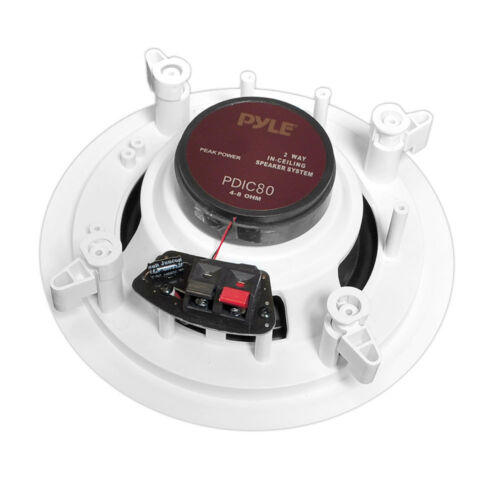 PYLE PRO PDIC80 8/'/' 300W 2-Way In-Ceiling//Wall Speakers System Home 4 Pairs
