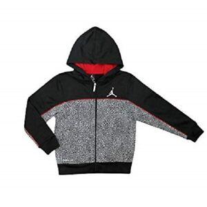 456c47409a76 Nike Jumpman Air Jordan Boy s Therma-Fit Full Zip Hoodie Black Red ...