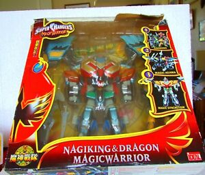 """ 9 Super Ranger Figure Nagaking & Dragon Magic Guerrier Trasformer Boxed Artisanat D'Art"