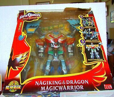 """"""" 9 Super Ranger Figura Nagaking & Dragon Magic Guerriero Trasformer In Scatola-mostra Il Titolo Originale"""