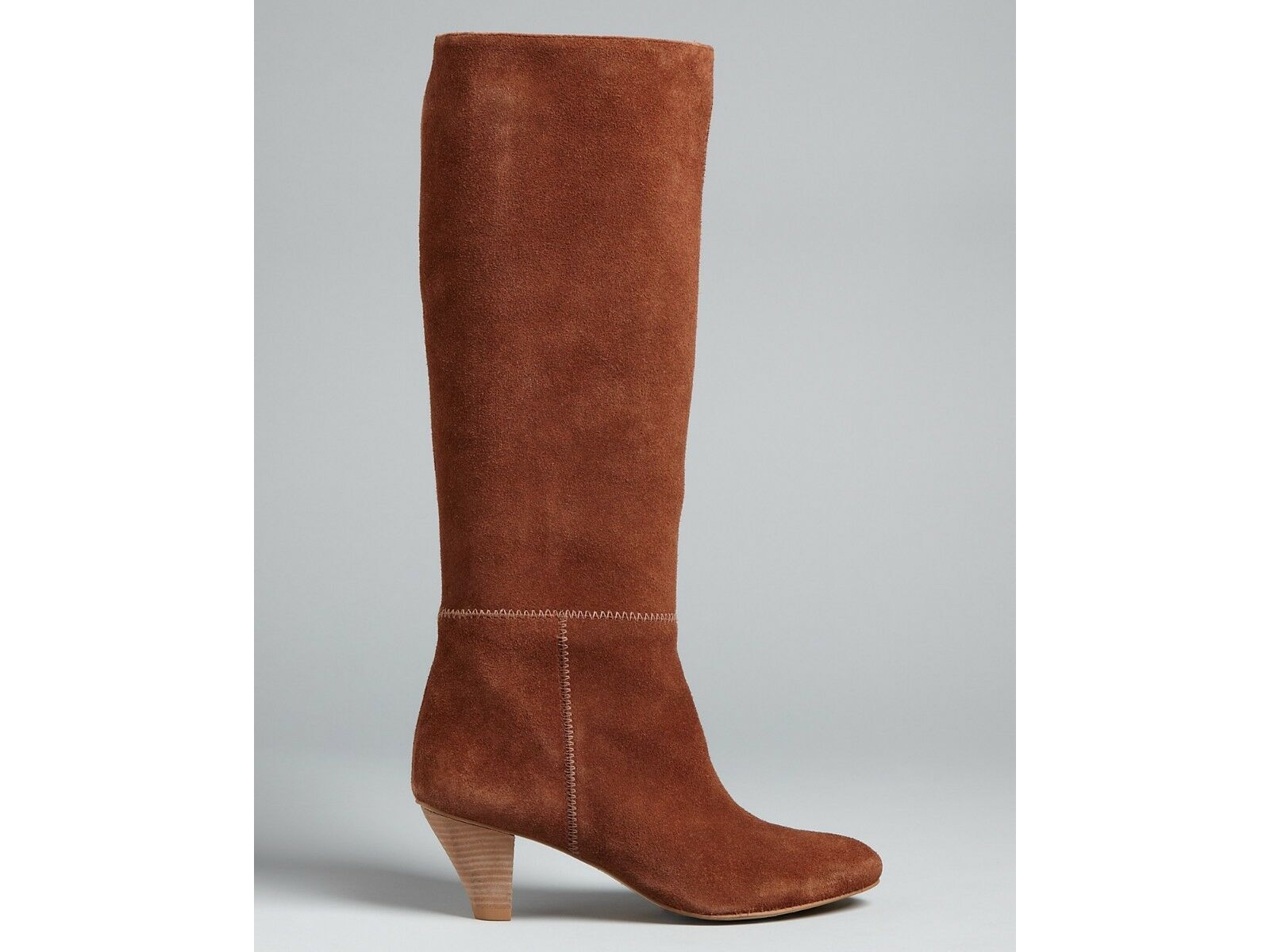 Twelfth Street by Cynthia Vincent Gigi Tall suede Boot, Brown Sz  6.5, ret-- 445