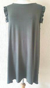 c63f528cd75 Ladies Top Matalan Dress Khaki Boho Midi A line Tunic Plus size 8-18 ...
