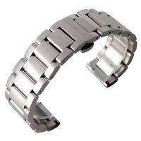 18/20/22mm Watch Band Strap Stainless Steel Women Bracelet Men Silver Solid Link