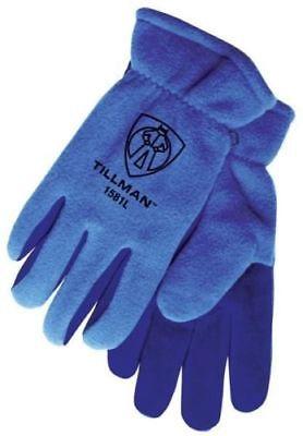 Tillman 1581 Blue Polar Fleece Split Cowhide Cold Block Lined Winter Gloves Pair