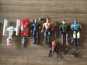 Vintage Mixed Toy Lot Star Wars Transformers Buck Rogers Rambo Sectaurs 70s 80s