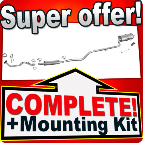 Pipe 97-99 Silencer Exhaust System J77 Toyota Corolla 1.3 1.4 16V 86HP Compact