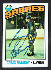 Craig Ramsay #78 signed autograph auto 1976-77 Topps Hockey Trading Card