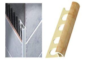 Profilo ceramica per rivestimenti piastrelle tondo in pvc bianco o