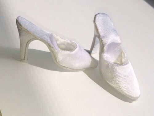 "Doll Shoes WHITE SATIN fit CANDI 16/"" Fashion Dolls Tyler Gene Alex Hamilton Toys"