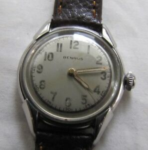 BENRUS-VINTAGE-MODULAR-ALL-SS-WP-17J-MANUAL-WIND-MOD-BH11-CAL-1080-MILITARY-DIAL