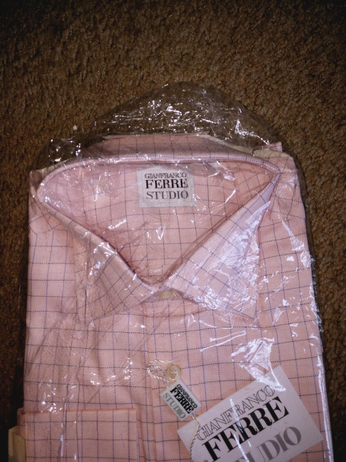 Gianfranco Ferre Men Designer Long Sleeve shirt - Size 16.5 (42) - Rare Fine