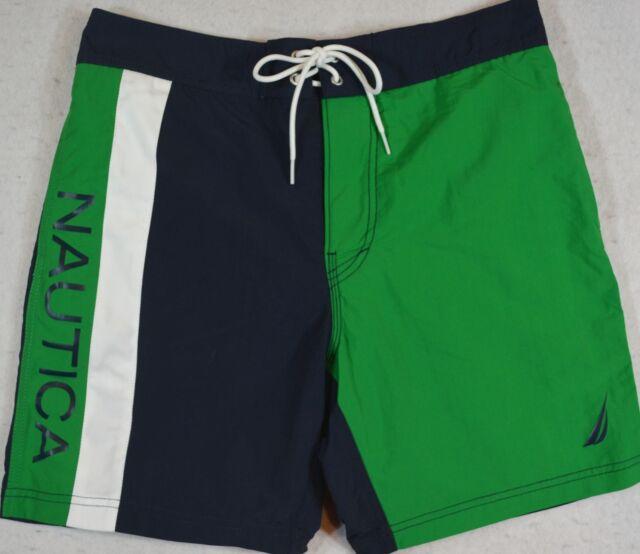 450d798d52 Nautica Mens Quick Dry Signature Color Block Swim Trunk 2xl Rolling Green 18-6030  TCX