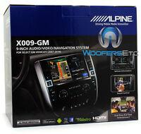 Alpine X009-gm 9 Cd Dvd Navigation Gps Bluetooth For Gm Chevrolet Trucks 07+