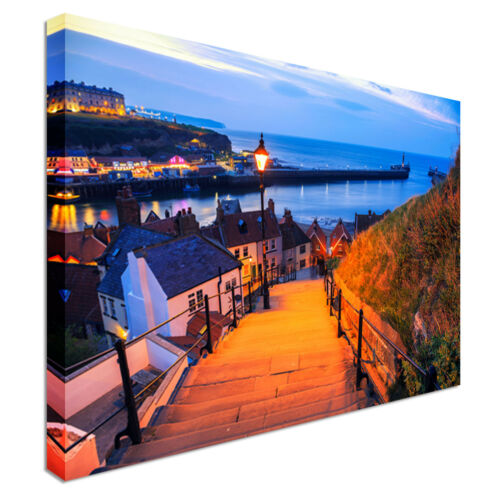 The 199 steps in Whitby Wall art Canvas Wall Art Picture Print