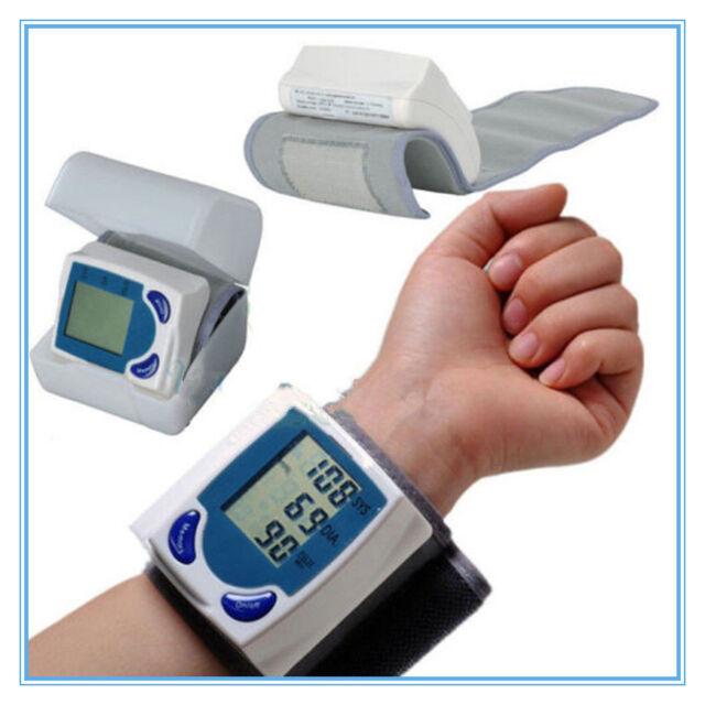 OE Digital LCD Wrist Blood Pressure Monitor&Heart Beat Rate Pulse Meter 2Y