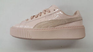 Womens 363558 01 Patent Sneakers Leather Platform Basket Frappe Puma Size qznpAxC