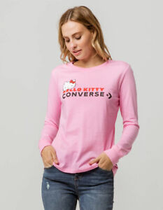 Converse-X-Hello-Kitty-Collection-Premium-Long-Sleeve-Shirt-Pink-Size-XL